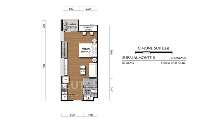 Condominium  for sale Supalai Monte II Chiang Mai - Doi Saked road image6