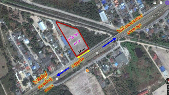Land  for sale Sukhumvit Road close to Rayong Expressway. image3