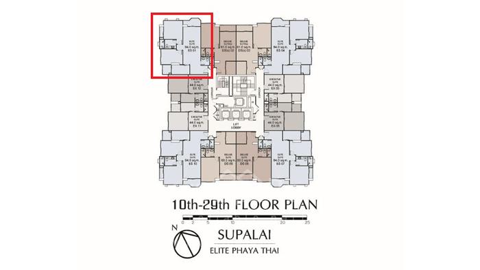 Condominium  for sale Supalai Elite @Phayathai Phayathai image2