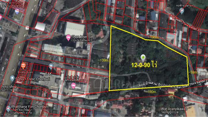 Land  for sale Sukhumvit Road, Soi Ban Suan, Amphoe Mueang Chon Buri. Chonburi City Center. image0