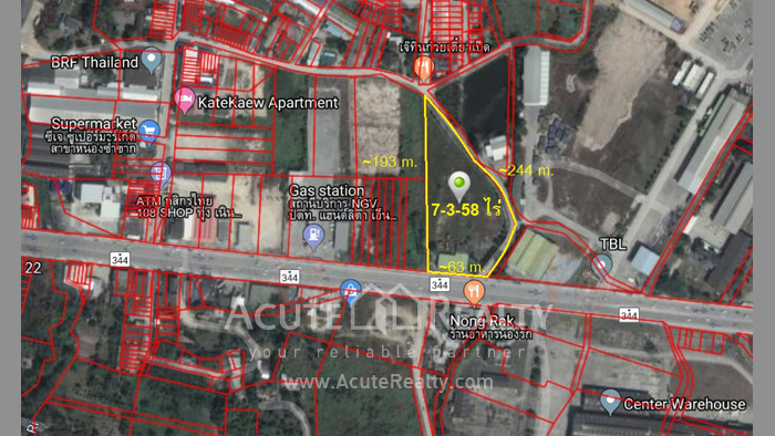 Land  for sale Next to 344 Rd, Nong Sumsak. image0