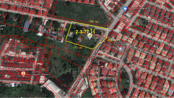 Land  for sale Sriracha-Nong Yai Bu Road. Soi 9.