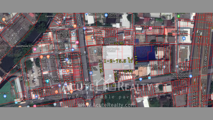 Land  for sale Si Phraya Road, Bang Rak, Bangkok image1