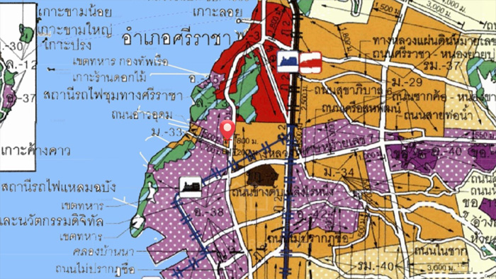 Land  for sale Sukhumvit Road, Ao Udom, Si Racha District. image4